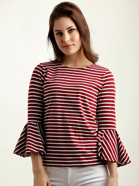 A Moment In Time Striped Top