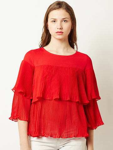 Breaking Bad Pleated Layered Top