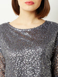 Cling To Bling Sequins Crop Top