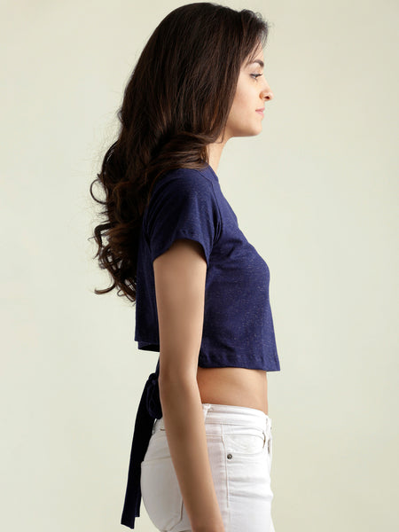 See The Oasis Tie Back Crop Top