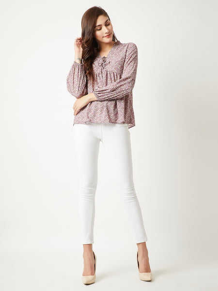 Beautiful Disaster Criss Cross Neck Top