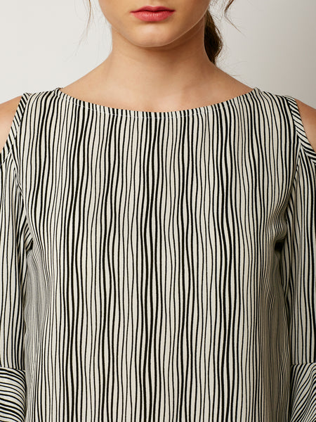 Time Cannot Wait Ruffle Sleeve Top
