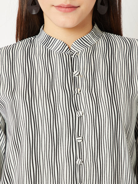 Leaving Town Again Drawstring Sleeve Top