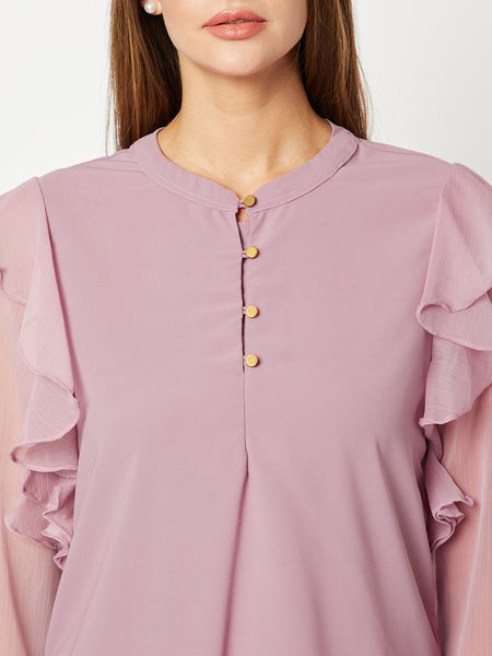 Alternative Wednesday Frill Sleeve Top