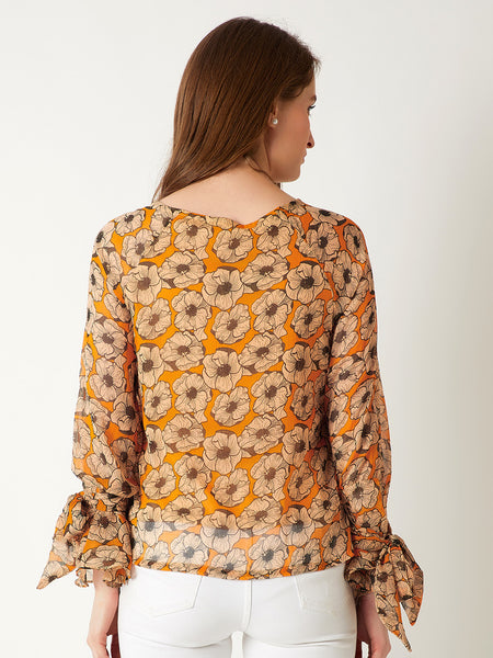 Petal To Metal Tie Sleeve Top