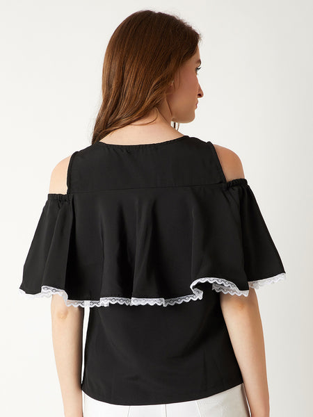 Raise The Bar Cold Shoulder Top