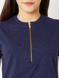 Galway Girl High Neck Zipper Top