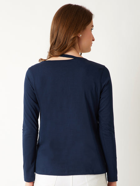 Loose Control Slit Shoulder Top