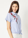 Faded Stories Pearl Embroidered Shirt