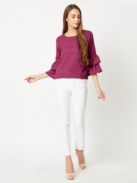 Pillow Talk Pearl Ruffled Top