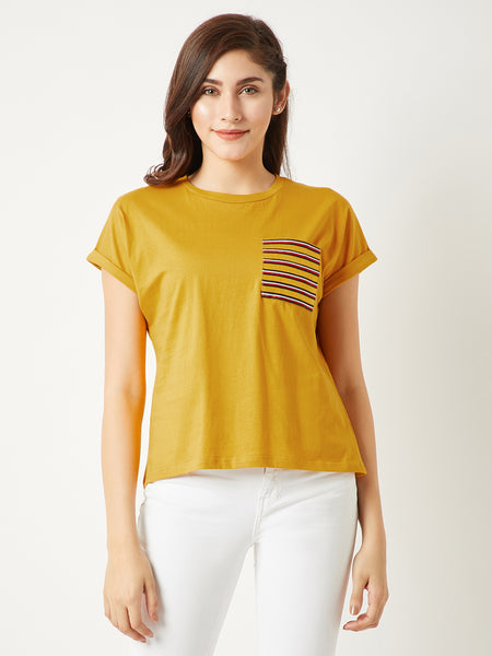 Secret Crush Twill Pocket T-Shirt