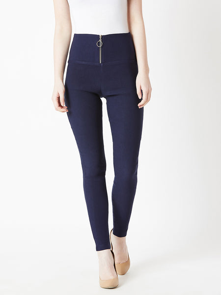 Make Life Epic Zipped Up Jeggings