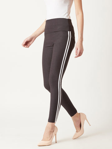 Two Way Twill High Waist Jeggings
