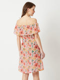 Be Bright Floral Printed Bardot Dress