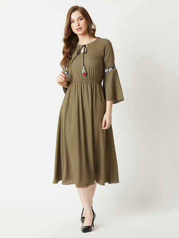 Every Outfit Counts Embroidered Sleeve Dress