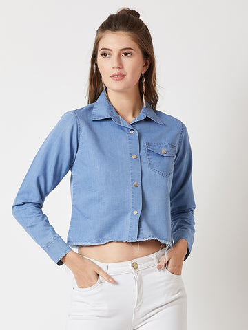 Never Chase Love Denim Shirt
