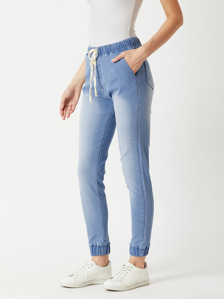 Just The Right Madness Denim Jogger