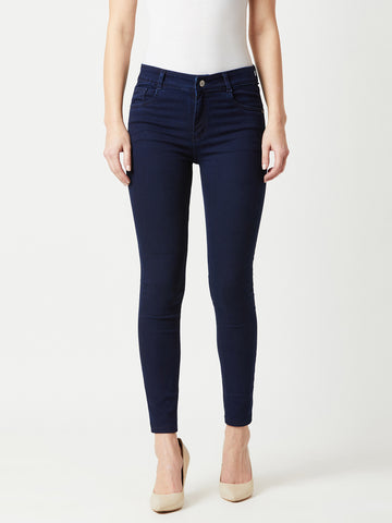 Boston Hub Cropped Blue Denim