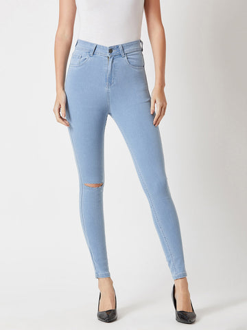 When In Doubt High Waist Denim Pant