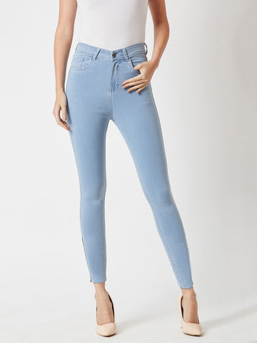 Can't Have Just One Zipper High Waist Denim Pant