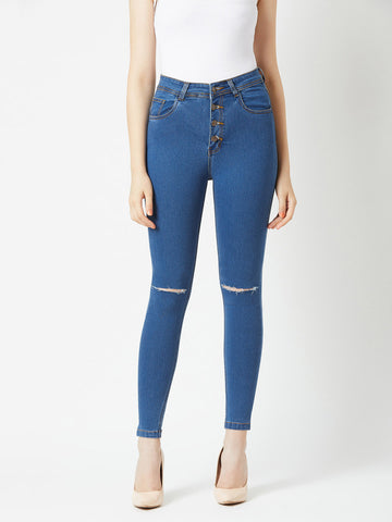 The Sun Is Up High Waist Denim Pant