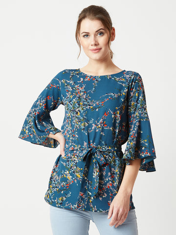 Bare Blossoms Knot Top