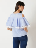Flare Into Style Cold Shoulder Lace Top
