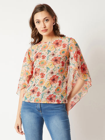 Florals On My Side Flared Sleeve Top