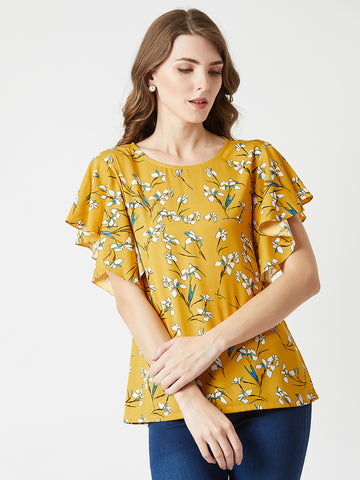 Are You Lonely Ruffle Sleeve Top