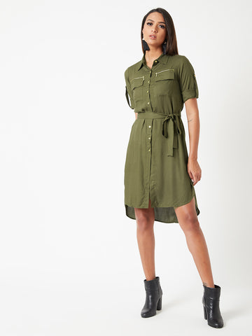 Shades Of Autumn Shirt Dress