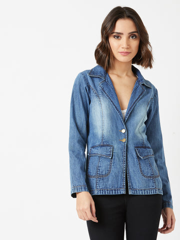 Count Your Name Denim Blazer