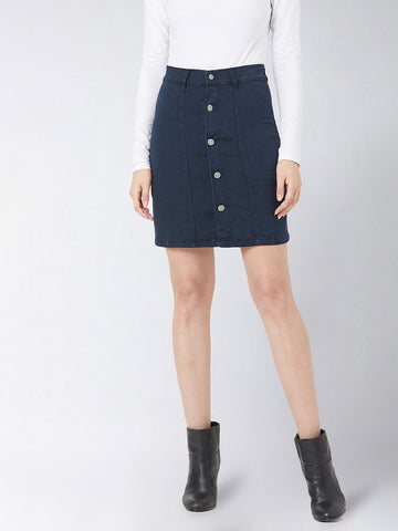 Wide Awake Denim Skirt