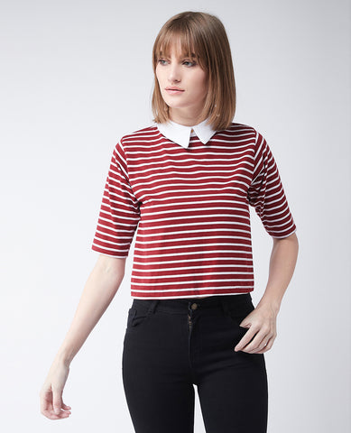 Afternoon Delight Striped Crop Top