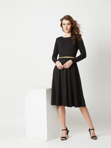 Time Flies Belted Midi Dress