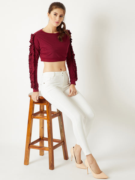 Dance With Me Ruffle Sleeve Top