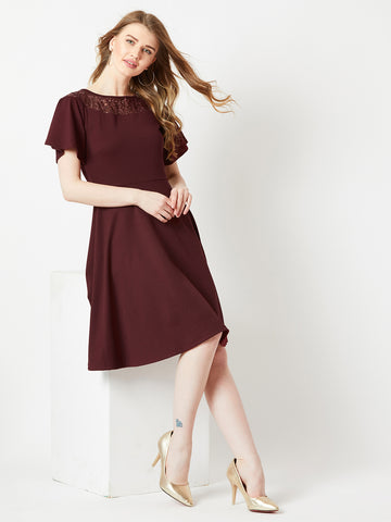 Peace On Earth Sequins Skater Dress