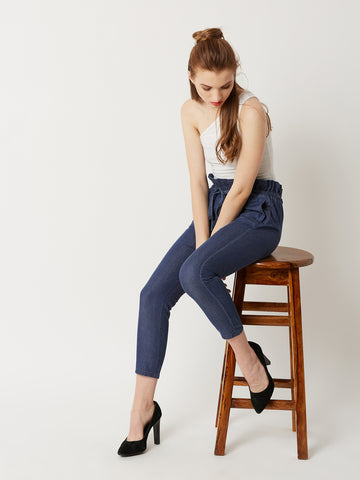 In Search of denim paper bag pants