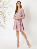 Only Upto You Belted Wrap Dress