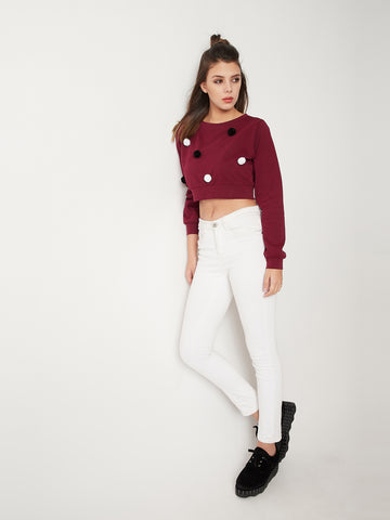 Warm And Cozy Pompom Top