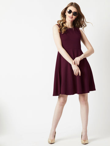 Long Story Short Open Back Skater Dress