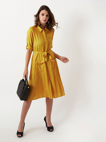 Heartbreaker Belted Shirt Dress