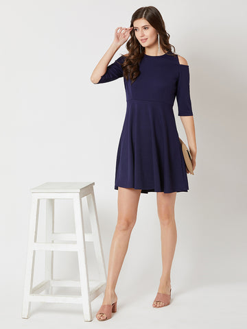 It's About Time Shoulder Cut Out Dress