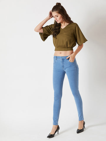 High Hopes Twill Crop Top