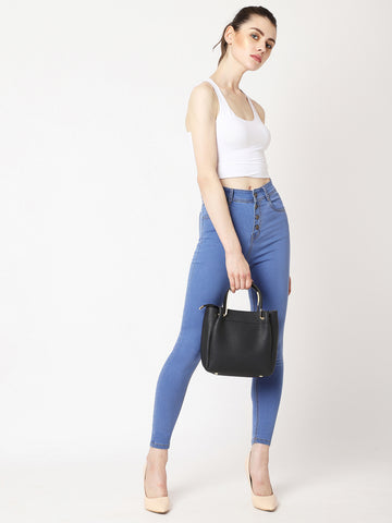 Drop Of A Hat High Waist Denim Pant