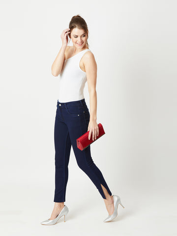 Brave Heart Side Slit Denim Pant