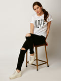 Nope Never Round Neck T-Shirt