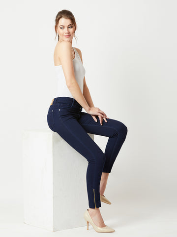 Charming Girl Mid Waist Denim Pant