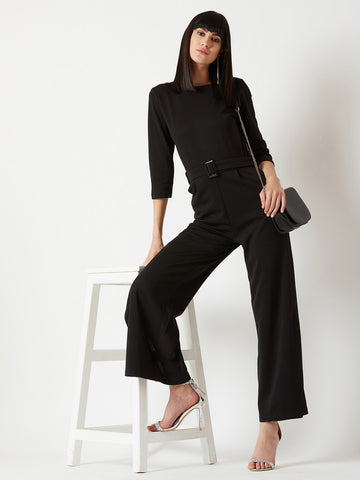 Keep Choosing Joy Belted Jumpsuit