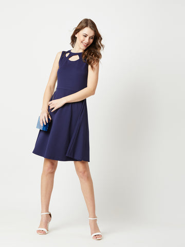 Gather Memories Cut Out Skater Dress