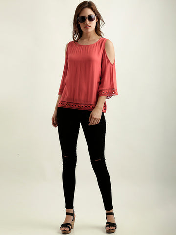 Sweet Symphony shoulder Cut Out Top